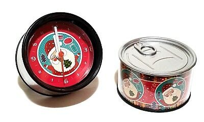 Weihnachtsuhr Tisch Uhr Weihnachtsmann Geschenkdose Weihnachten Weihnachtsdeko