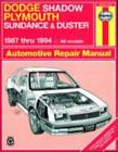 Haynes Manuals: Dodge Shadow, Plymouth Sundance and Duster 1987 Thru 1994 by Haynes, John Haynes and Haynes Publications Staff (1996, Paperback)