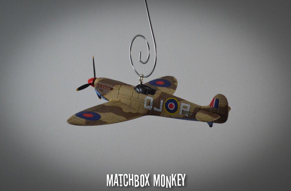 Neville herzog supermarine spitfire, wo einzelne flugzeug weihnachten schmuck.