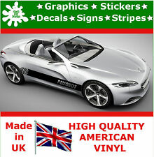 2* Peugeot Vinyl Decal Sticker Car Van Set Stripes Graphic Sport  Viper RACING 2