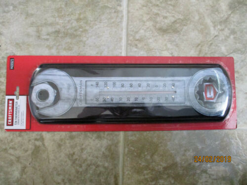 DAD GIFT 5 1//8W x17 5//16 H SHOP CRAFTSMAN TIN WRENCH THERMOMETER NIP MAN CAVE