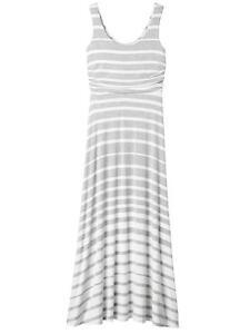 38f0d64469 Athleta Stripe Maxi Dress Grey Heather/White, XS, Ret.$118 Rayon | eBay