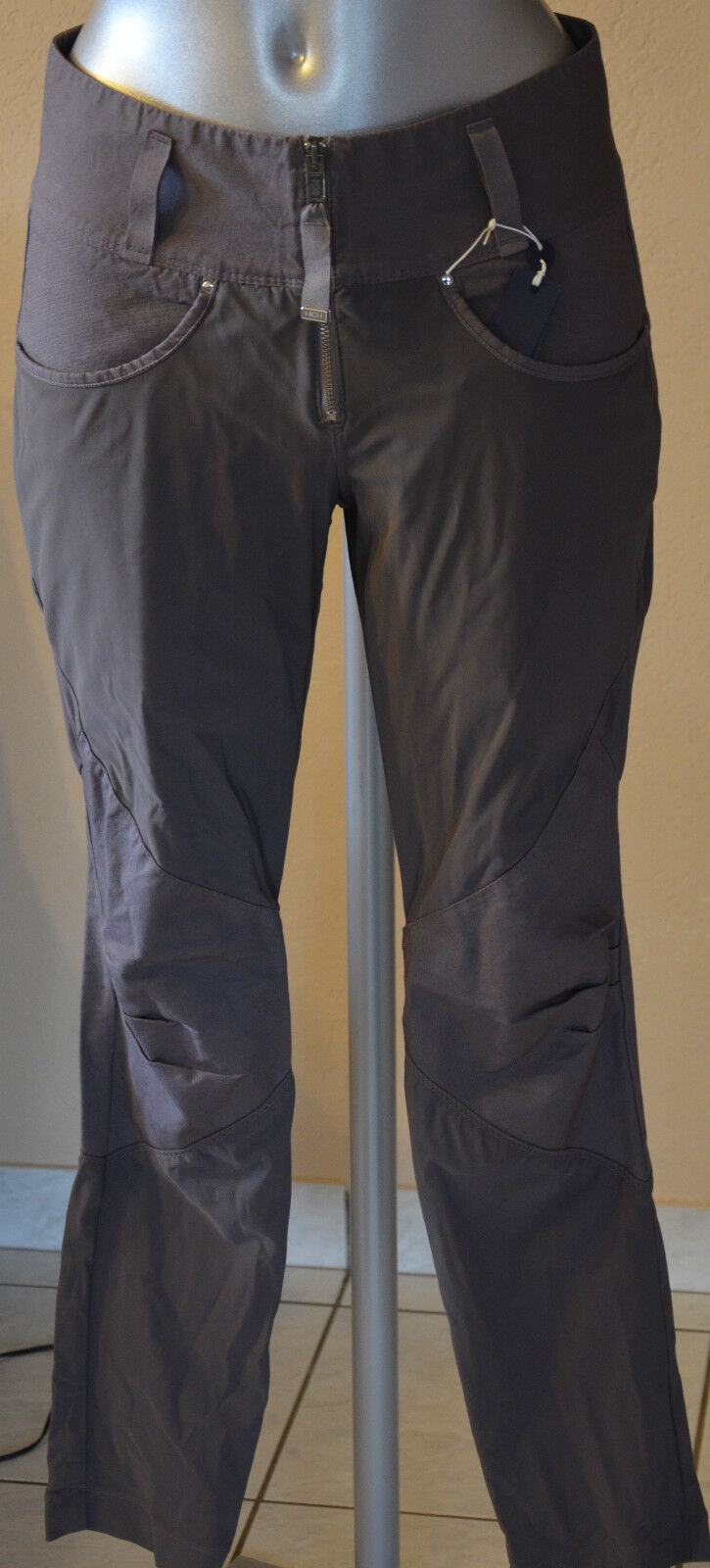 Luxurious trousers 3 4 woman grey HIGH USE size 38 ALL NEW