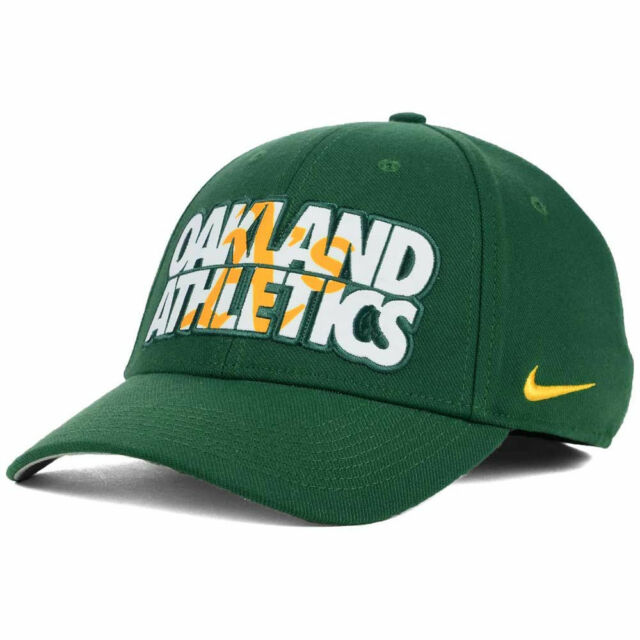low cost bc54d d5760 Oakland A s Nike MLB Verbiage Logo Flex Cap Hat Unisex Baseball Swoosh  Athletics for sale online   eBay