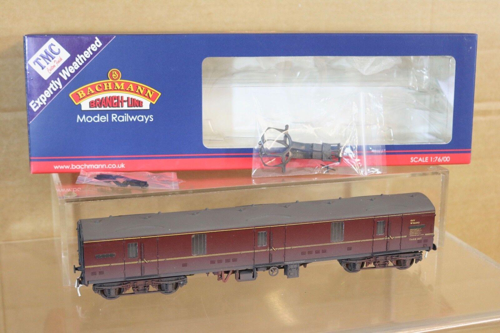 Bachmann 39-271b kit built br tmc worn bordeaux mk1 guv van wagon w86442 pwc