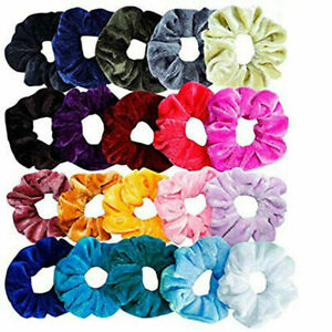 50 Pcs Girls women Velvet Girls Hair Scrunchies Elastic bands Scrunchy Ties lot