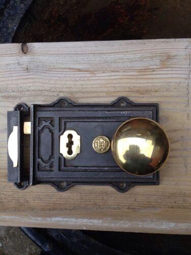 65 mm Qualité ~ ~ ~ davenport en fonte et cuivre rim lock ~ /& boutons de porte.