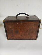 Vintage Antique Machinist Wood Box Tool Chest Case 7 Drawers With Key