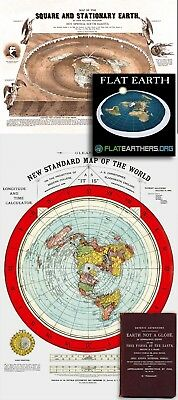 Flat Earth Map Square and Stationary Earth Orlando Ferguson Poster 24 x 18