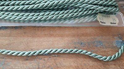 ✂Tolle Kordel Schnur hellblau Baumwolle//Viskose Stärke 10 mm  Meterware✂