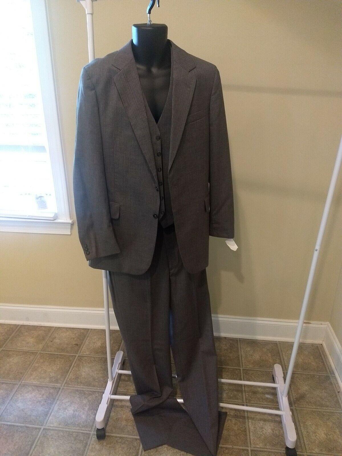 Männers 3 piece Wolle suit, 40L, Hose 34L