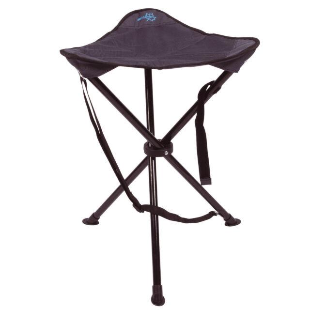 BO CAMP Camping Dreibein Hocker Angelhocker Anglerhocker 100kg Belastung Outdoor