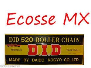 KTM-DID-oro-520-x-120L-Cadena-de-alto-rendimiento-Exc-Xc-125-150-200-250-300