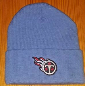 3538f353df7 Image is loading Tennessee-Titans-Light-Blue-Officially-Licensed-NFL-Beanie-