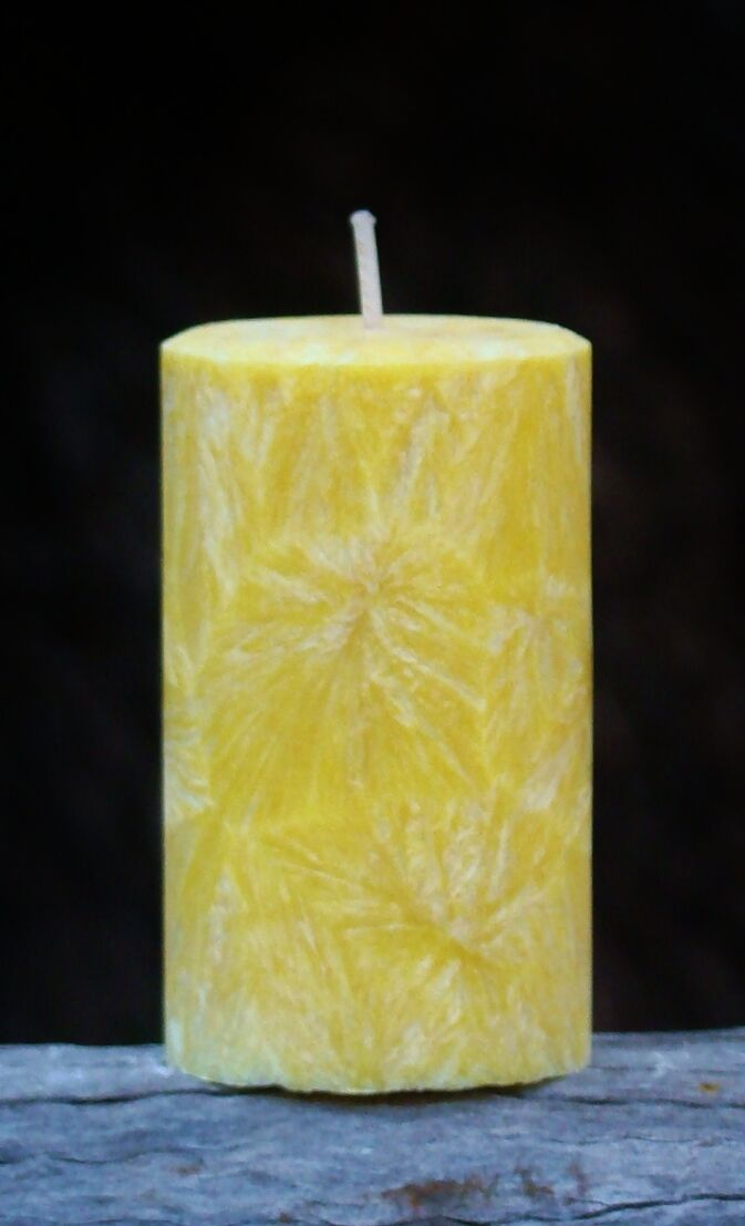 MASSIVE 400hr HONEY, GINGER & GREEN TEA 1.7kg Triple Scent ARTISAN PILLAR CANDLE