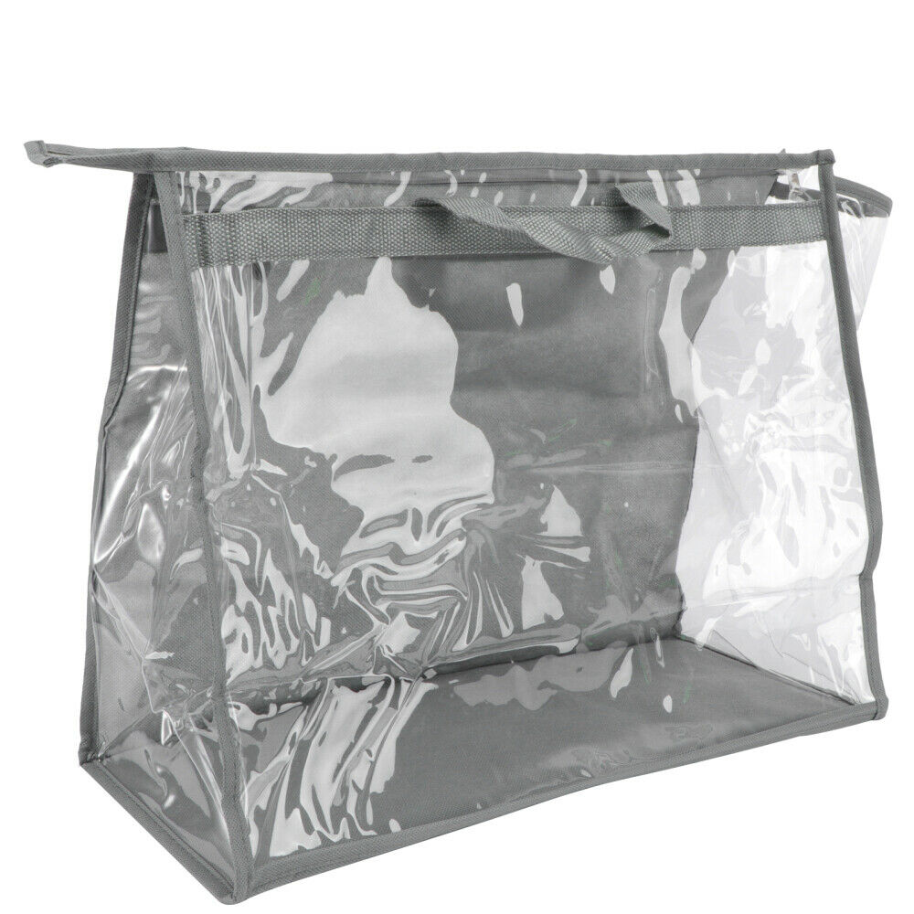 1Pc Household Storage Bag Clothes Container Bag Waterproof Pouch Closet Bag Grey