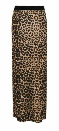 Ladies Wome/'n Long Gypsy Jersey Bodycon Maxi Dress Skirt Plain Printed Skirt