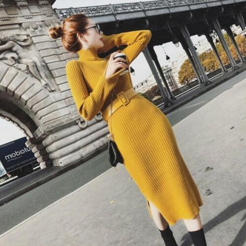 con lunga manica lato vestito pullover donna cintura Moda Lc maglione 7a0qwq