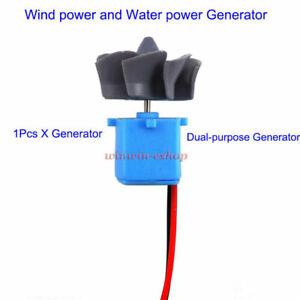 Mini Wind Turbines Generator HydraulicWasser Generator Teaching DIY Kit Test