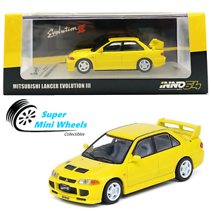 With Extra Wheels INNO64 MITSUBISHI LANCER EVOLUTION III Yellow