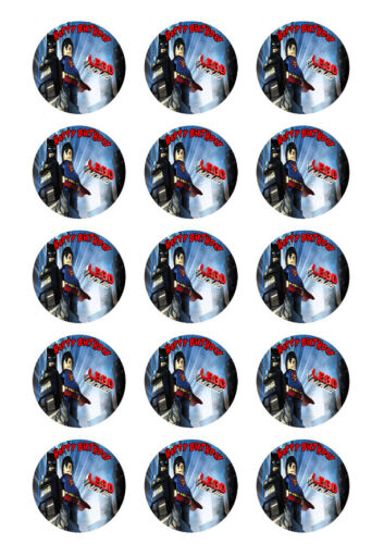 Lego Batman vs Superman Personalized Edible Print Cake Topper Sheets 5 Sizes