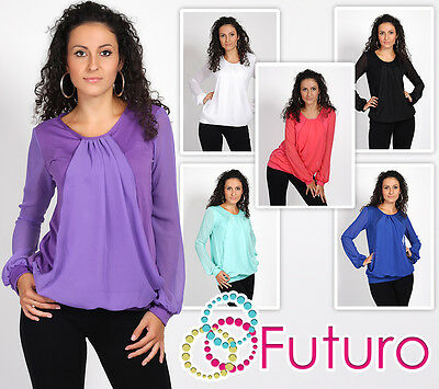 Womens Lovely /& Sensible Top With Flounce Jumper Tunic Loose Fit One Size 8061