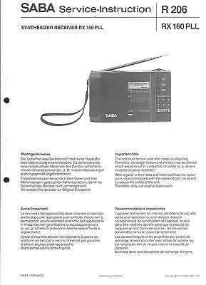 Tv, Video & Audio Original Service Manual Saba R206 Rx 160pll Verkaufspreis