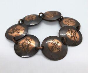 Vintage-Bracelet-8-Copper-Animals