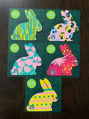 """Canada Series Starbucks /""""MINI EASTER 2020/"""" New No Value 5 Gift Cards"""