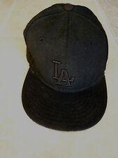 LOS ANGELES DODGERS * NEW ERA BLACK BASEBALL CAP * SIZE 6 1/2 * 59FIFTY * LA *