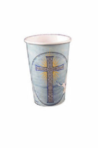 8-Pack-Amscan-Blue-Boy-SPECIAL-BLESSINGS-Paper-Cups-Christening-Communion