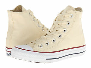 4062567dee6b34 NEW MEN WOMEN CONVERSE CHUCK TAYLOR ALL STAR HI NATURAL WHITE M9162 ...
