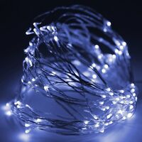 20ft Fairy Led Wire String Lights Pure White W/ Power Adapter-waterproof Thl-03
