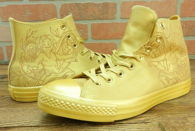 732ca9ede55d Converse Chuck Taylor All Star High Top Laser Tech Gold Wheat Size 10 -  155182c