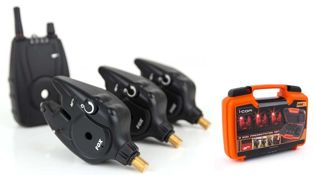 Fox Micron Mr Plus 3 Rod Set Including Hardcase   Carp Fishing Alarms & Recevier