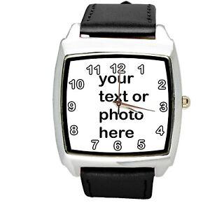 9c1f82254afe La imagen se está cargando Reloj-De-Cuarzo-tu-foto-de-texto-Personalizado-