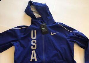 los Team Usa Ol Nike capucha Shields Chaqueta Juegos con de FSg0Ww1n