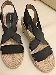 218c506bf0e Details about NEW Adrienne Vittadini Strappy Stretch Espadrille Wedge  Sandals size 8.5