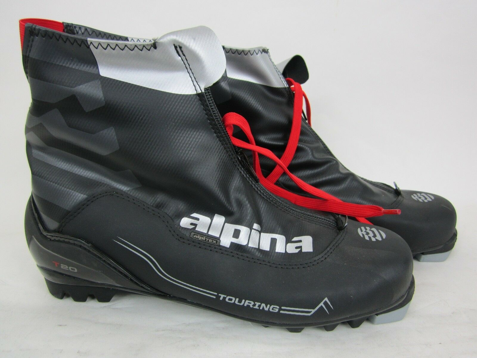 ALPINA T-20 CROSS COUNTRY SKI BOOT - BLK RED - SIZE 36