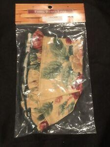 Longaberger-Homestead-Cracker-Basket-Fabric-Liner-Green-Leaf-NEW