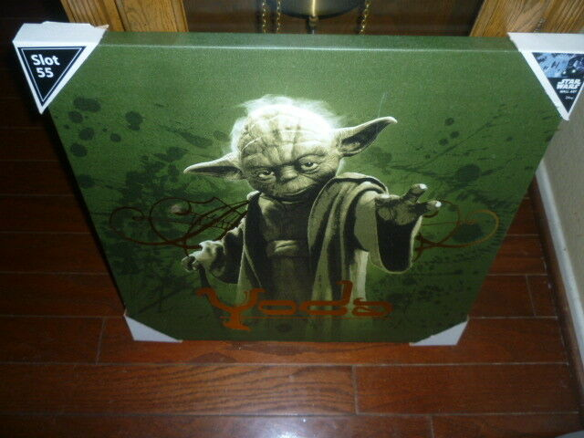 Star Wars Vintage Yoda on Canvas (appx 2 feet by by by 2 feet), new  3e1ebb