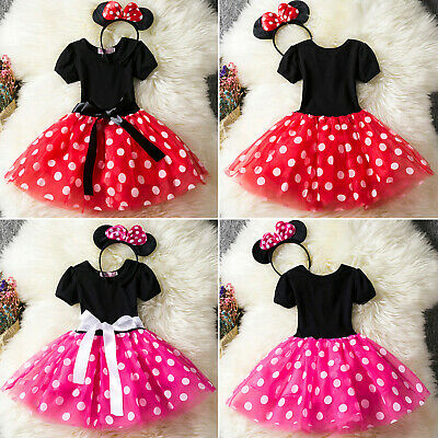Minnie Mouse Infant Baby Kids Girls Birthday Fancy Mini Costume Tutu Dresses //UK