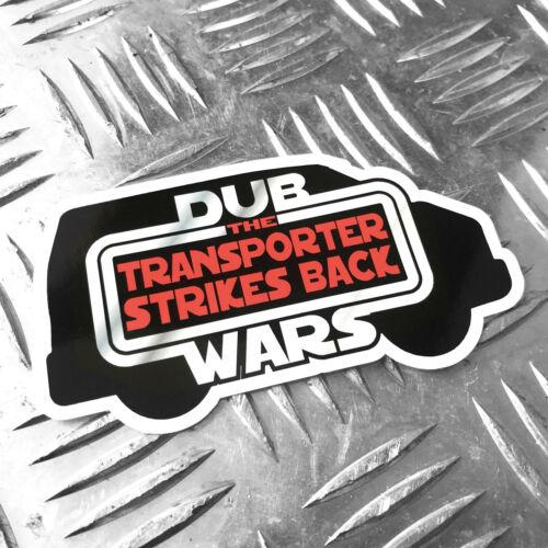 DUB WARS the transporter strikes back car sticker 95mm x 60mm oilcan starwars t4