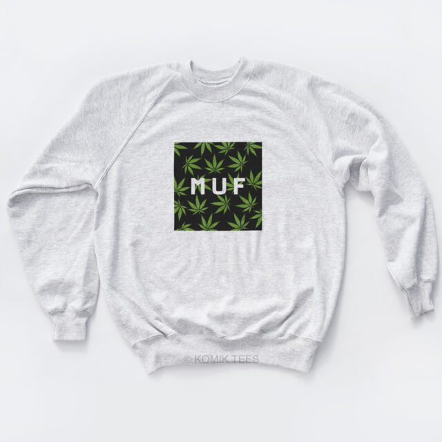 MUF Dope Sweat Huf Weed High YMCMB Fresh Trill Hype Swag Unisex Skate Sweatshirt