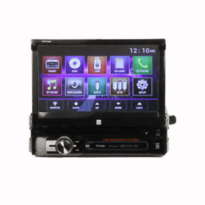 Dual-XDVD156BT-7-034-Single-DIN-Bluetooth-In-Dash-DVD-CD-AM-FM-Car-Stereo-Receiver