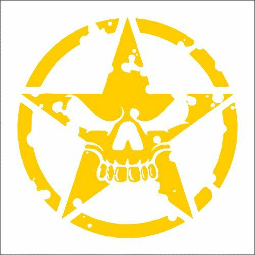 Pack Sticker 2 TWO Jeep Star Face Alternate Vinyl Decal