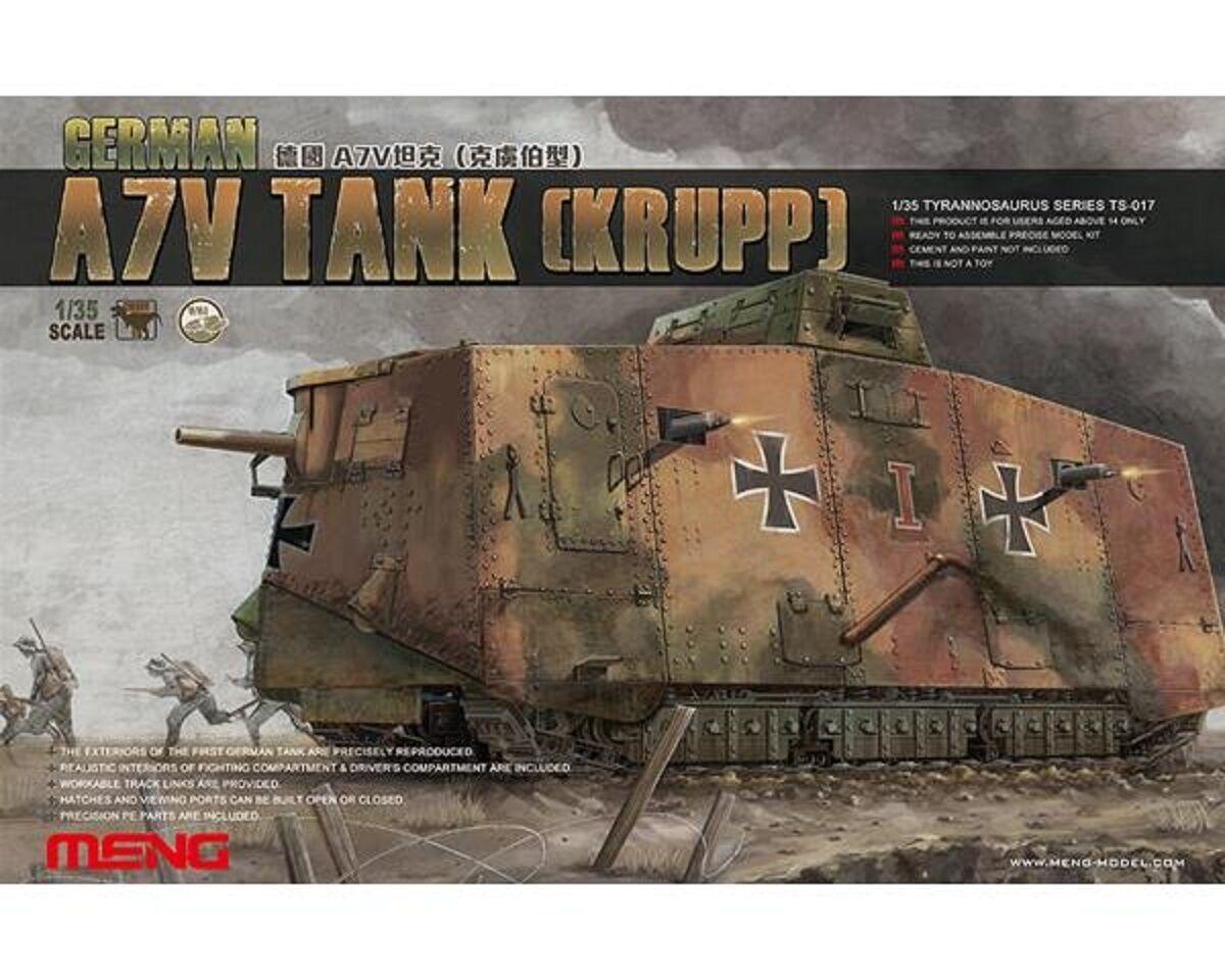 MENG GERMAN A7V TANK KRUPP WWI  1 35 COD.TS017