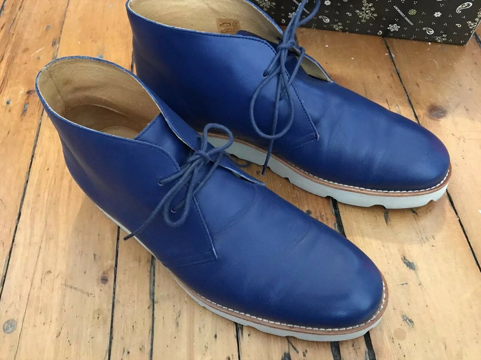 Opening ceremony chukka creepers bluee leather shoes Kenzo dress up size 42 9
