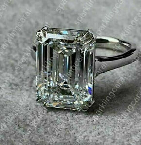 3-00-Ct-Emerald-Cut-VVS1-Diamond-Solitaire-Engagement-Ring-14K-White-Gold-Over