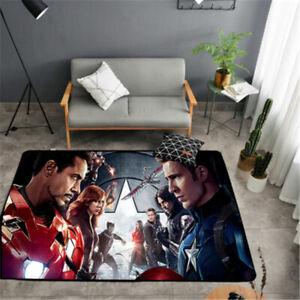 Marvel Avengers Superhero Kids Non Slip Bedroom Bathroom Mats Floor Rug Door Mat